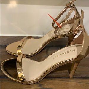 Madden Girl Gold Strap Sandal